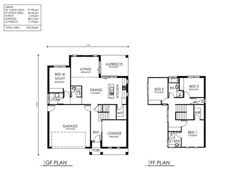 simple 2 story 3 bedroom house plans in cad bungalow house plans 3 bedroom 4 bedroom two story