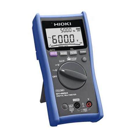 Multimeter Hioki hioki dt4254 true rms digital multimeter 1000vac 1700vdc voltage measurement only at the
