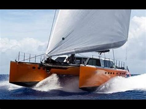 catamaran sailing heavy seas sailing catamaran in the rough sea youtube