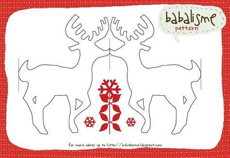 printable paper garland reindeer garland printable christmas printables pinterest