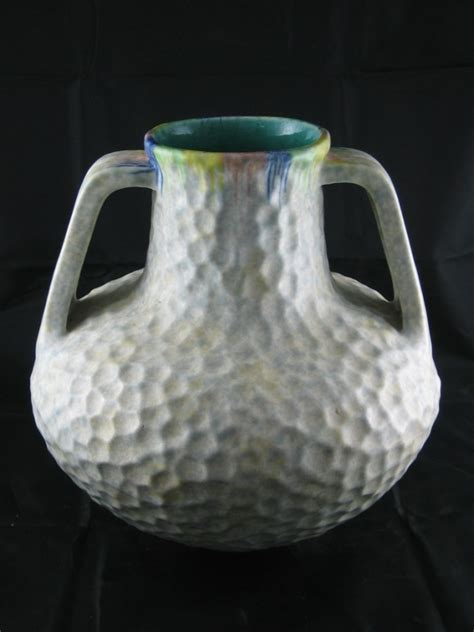 626 a bretby pottery handled vase 9 quot