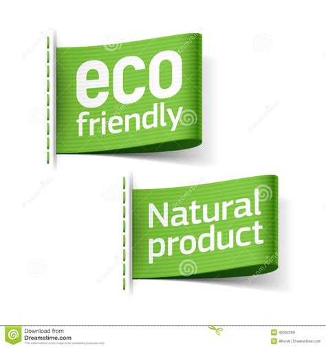 Earth Friendly Energy Clothes by Eco Friendly And Product Labels Stock Illustration