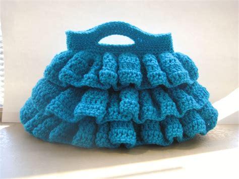 crochet ruffle bag pattern for the love of crochet along may 2012