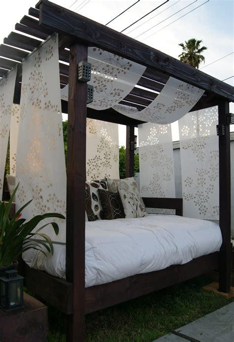 backyard cabanas diy cabana for the backyard with an old used futon i