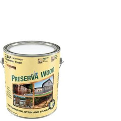 preserva wood 1 gal oil based clear penetrating stain and
