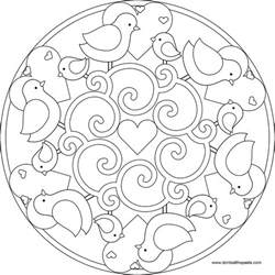 mandala to color don t eat the paste and child bird mandala to