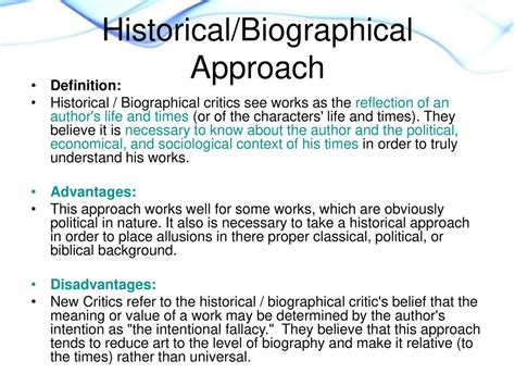 Biographical Approach Definition | literary criticism literary criticism is the study