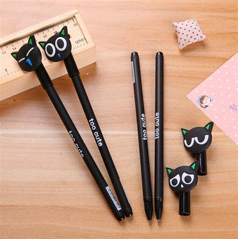 Cat 0 5mm Gel Pen gel pen black cat style 0 5mm pens for writing