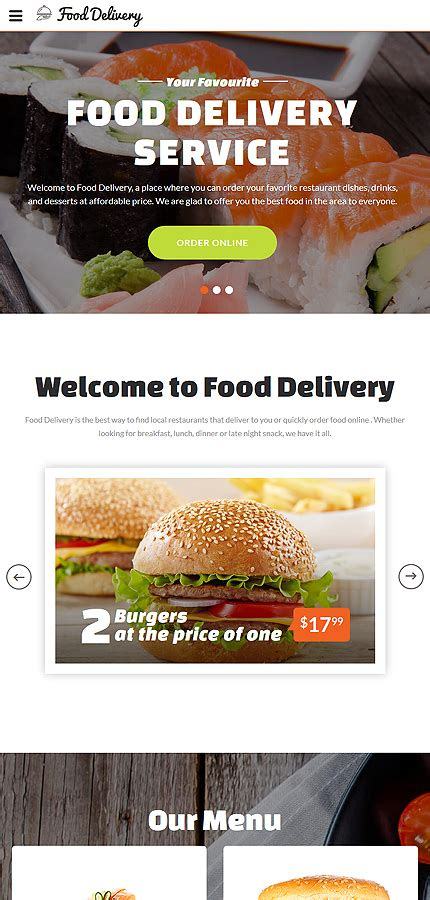 Food Ordering Service Website Template Website Templates Food Ordering Website Templates