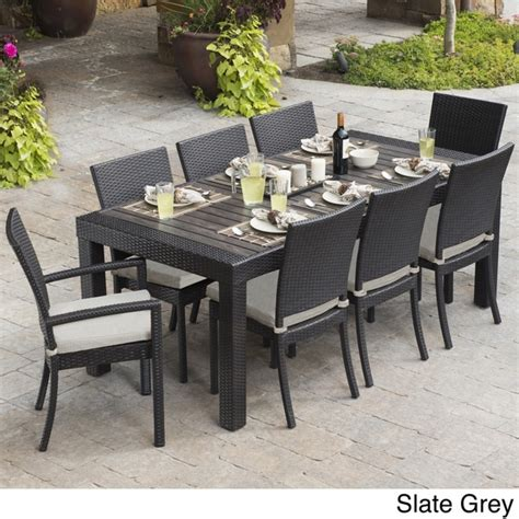 patio dining set rst brands deco 9 dining set patio furniture