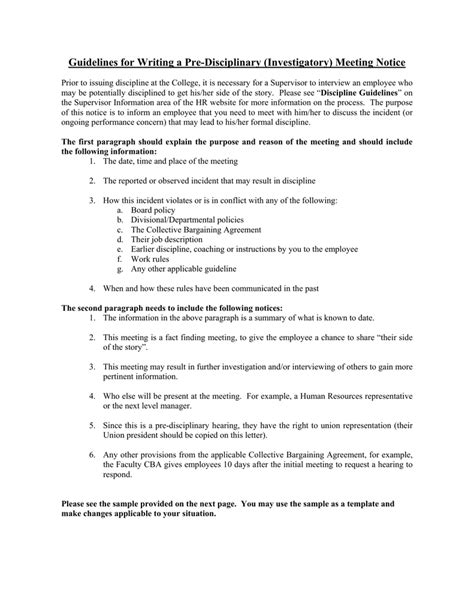 Invitation Letter To Disciplinary Meeting Disciplinary Hearing Invitation Letter Template Infoinvitation Co