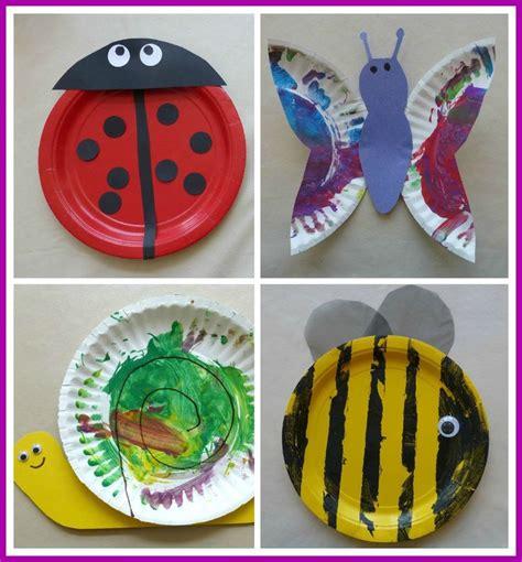 paper plate bugs kidscrafts eagles nest preschool ideas