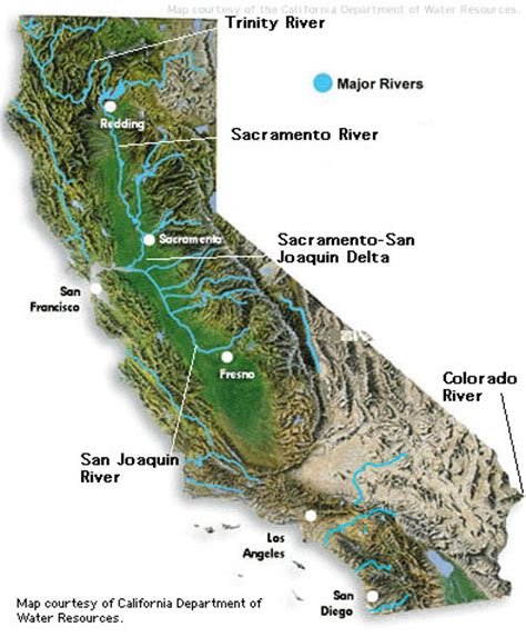 california map rivers and mountains california map rivers