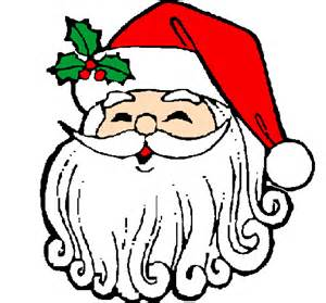 colored page santa claus face painted by geo