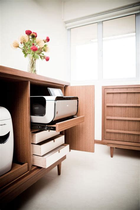 hide printer 8 smart and cool customised built in cabinets home