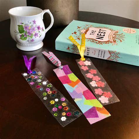 Contact Paper Craft Ideas - s day contact paper diy bookmarks the inspired home