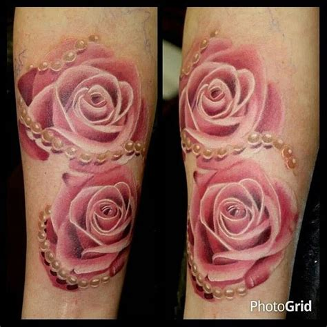 rose and pearl tattoo suzy homefaker beautiful realistic s