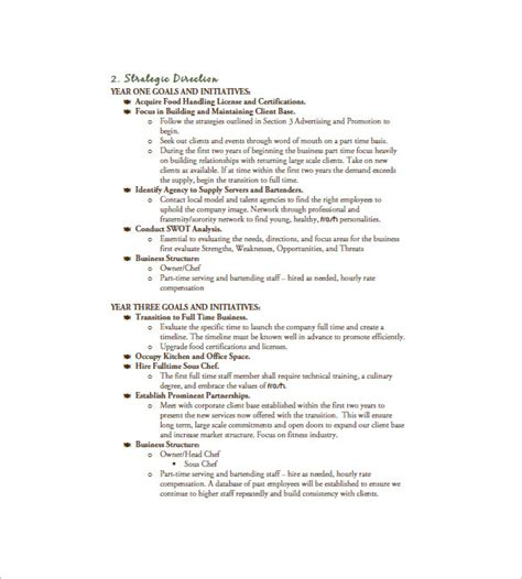 marketing section of a business plan sle catering business template 28 images 13 catering