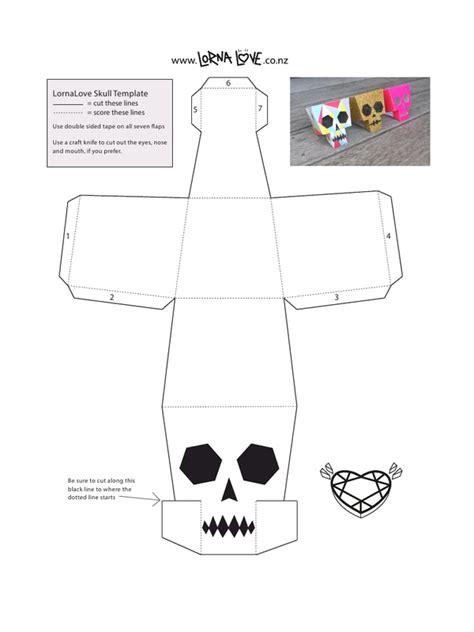 Paper Craft Pdf - lornalove papercraft skull lornalove papercraft skull