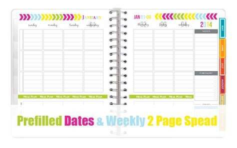 printable planner with dates the all new 2014 everyday planner printables sweet paper