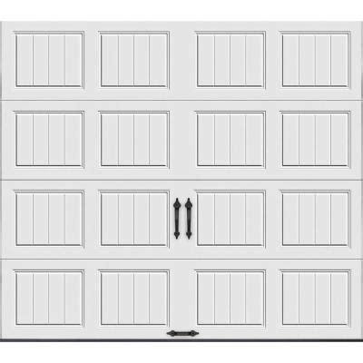 Garage Door Panels Home Depot Clopay Gallery Collection 9 Ft X 8 Ft 6 5 R Value Insulated Solid White Garage Door Gr1sp Sw