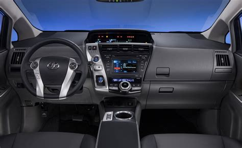 toyota prius interior car and driver