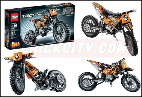 lego technic motocross bike lego 42007 moto cross bike i brick city