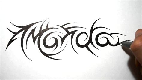 tribal writing tattoos tribal name tattoos amanda