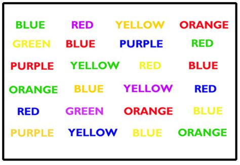 stroop color word test mea 173 sure your 173 tal speed and flex 173 i 173 bil 173 ity with this