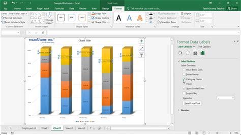 Format Excel For Labels | format data labels in excel instructions teachucomp inc