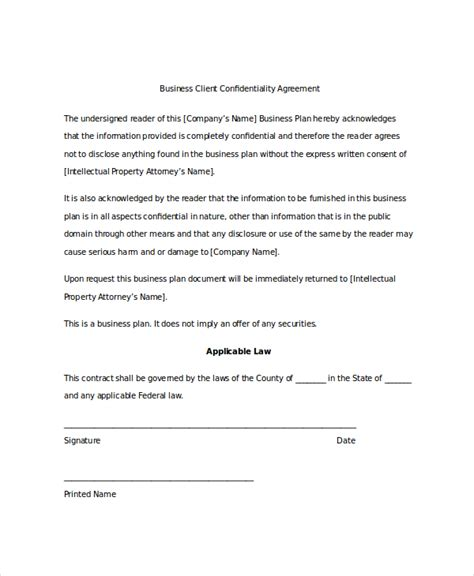 secrecy agreement template 14 client confidentiality agreement templates free