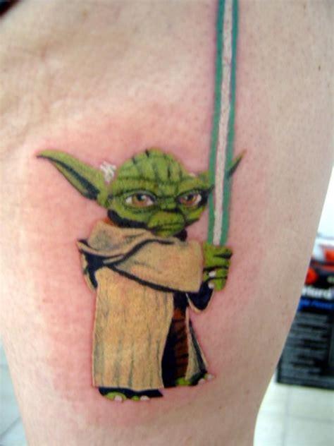 cartoon yoda tattoo 60 awesome animated tattoos