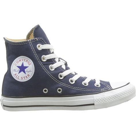 Converse Chuck Teylor High Navy converse chuck all hi navy textile trainers yakelo
