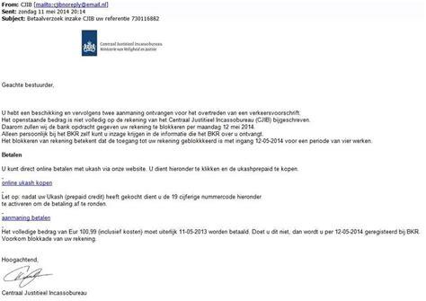 Informele Briefformat Politiekrant Pz 5429 Opgelet Voor Valse E Mails