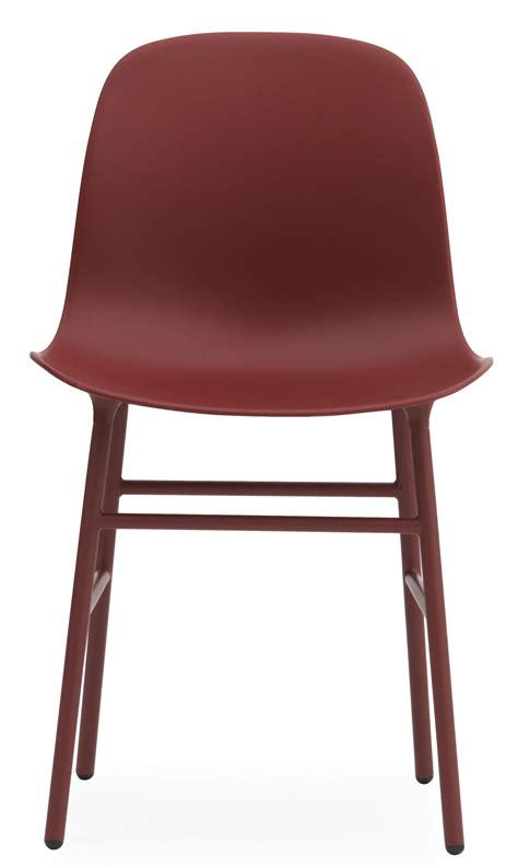design form chairs form chair metal leg red by normann copenhagen
