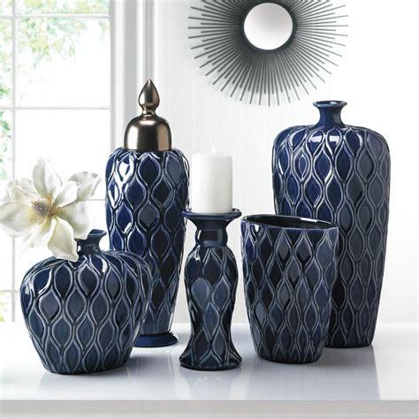 wholesale decorations blue wide vase wholesale at koehler home decor