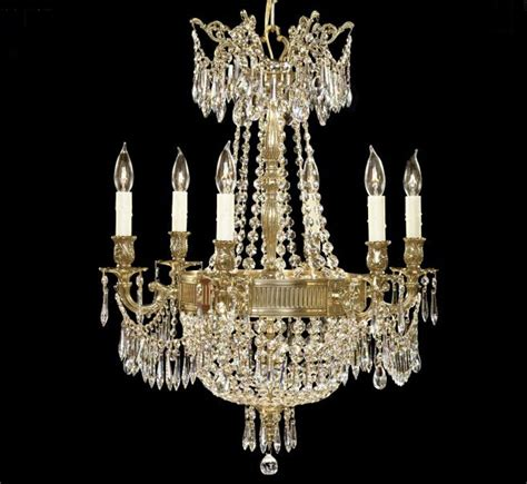 Chandelier Collections Valencia Collection 6 3 Light Large Brass