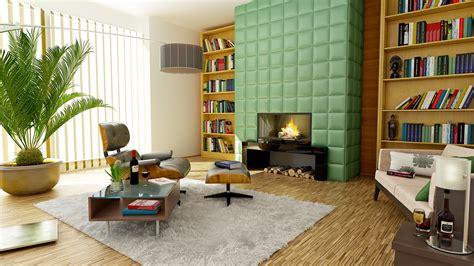 stock photo  apartment architecture bookcase