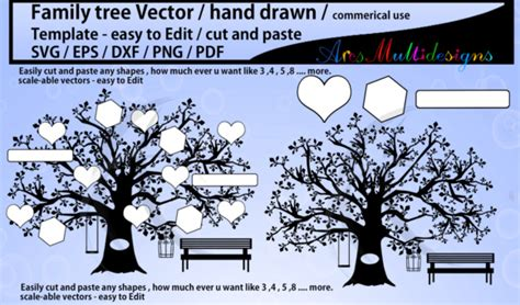family tree clipart svg template graphic  arcs