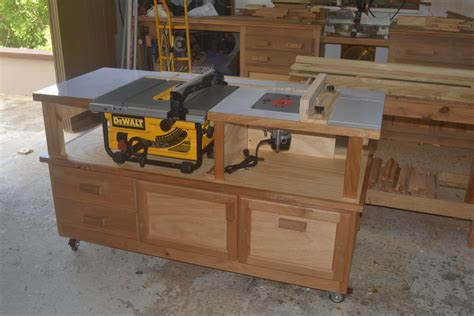 how to make a table saw bench table saw router cabinet finewoodworking