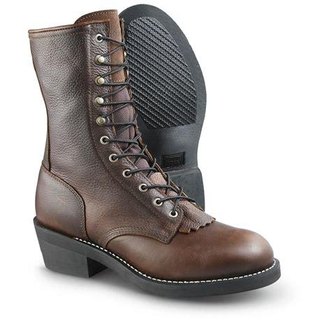 guide gear s kiltie packer leather work boots 577294