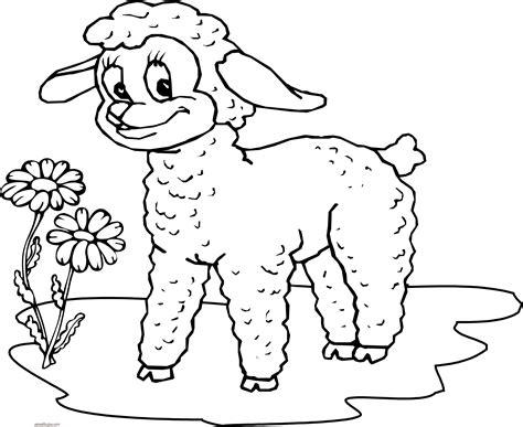 small sheep coloring page dibujos de ovejas para colorear