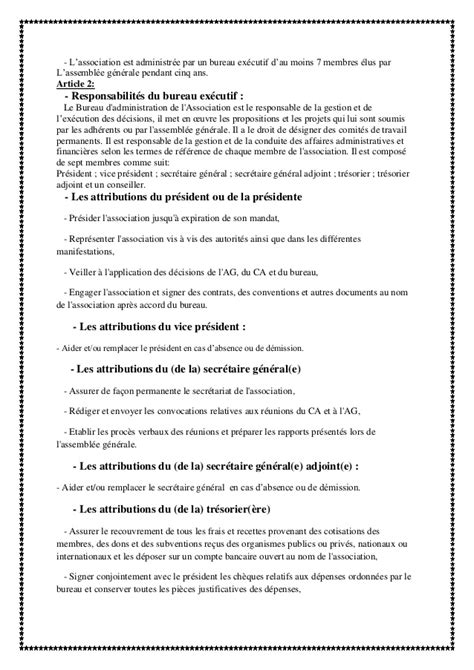 proc鑚 verbal association changement bureau statuts de l association montagne toubkal d 233 veloppement