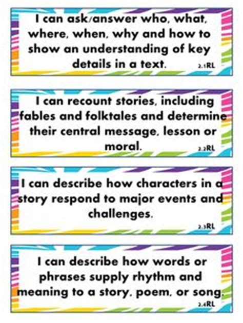 printable common core learning targets 1000 images about i can statements on pinterest i