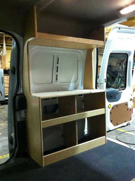 diy minivan cer photo ford transit connect cer diy flat pack kit cabinets minivan nissan nv200 nv1500