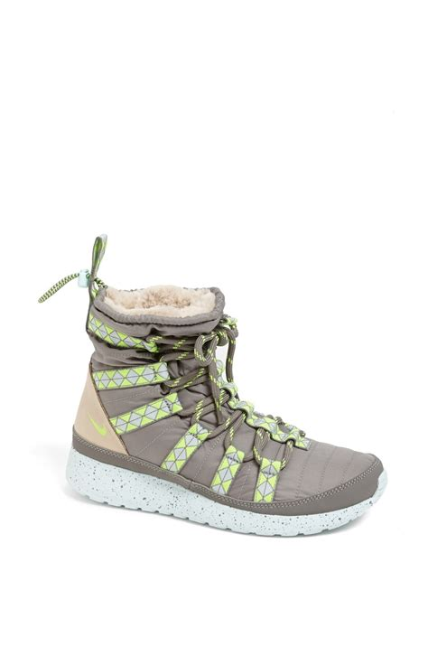 nike roshe boot nike roshe run hi waterproof boot in gray grey