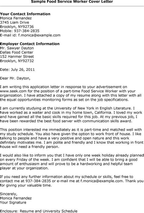Cover Letter For Food Service by Free Beverage Manager Resume Exle Intended For Food And Cover Letter 15 Outstanding