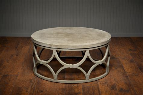 Outdoor Concrete Round Rowan Coffee Table   Mecox Gardens