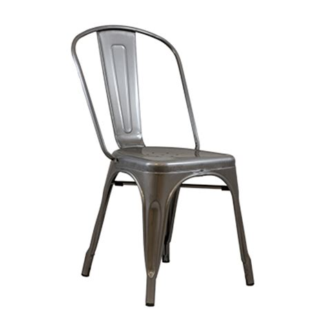 Industrial Metal Chairs by Gunmetal Industrial Metal Chair Rental Premiere Events