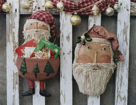 santa claus doll primitive pattern epattern pdf christmas card